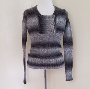 BKE Wool Blend Fitted Sweater.